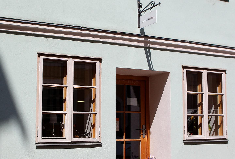 Büroeingang in der Kirchgasse Landshut
